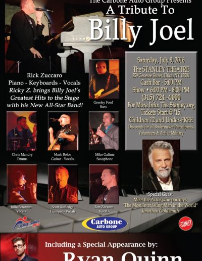 A Tribute to Billy Joel Poster Art